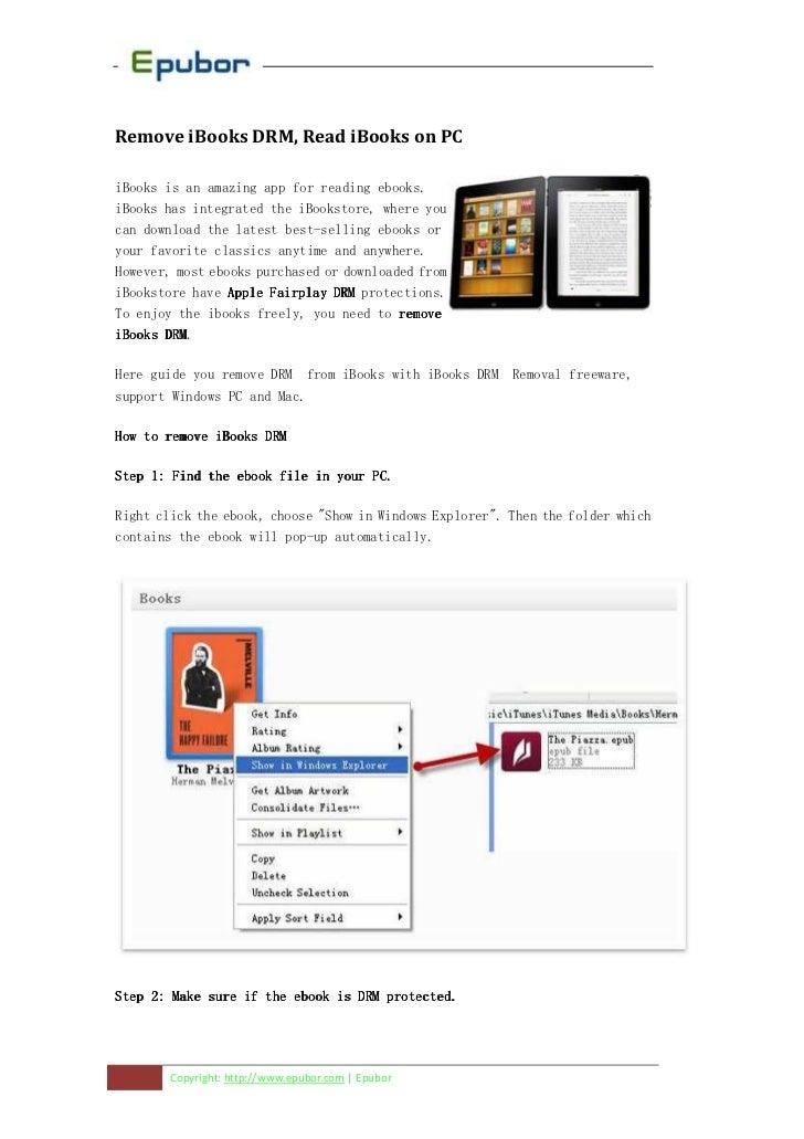 Remove ibooks-drm-read-ibooks-on-pc