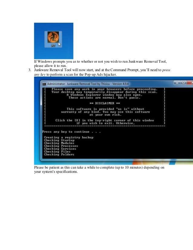 Remove adware and_popups