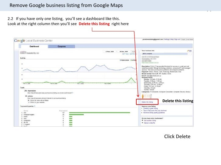 how to delete google business account