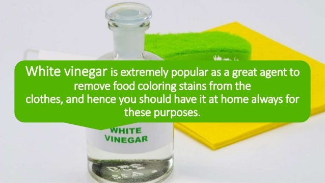 Remove Food Coloring From Your Clothes