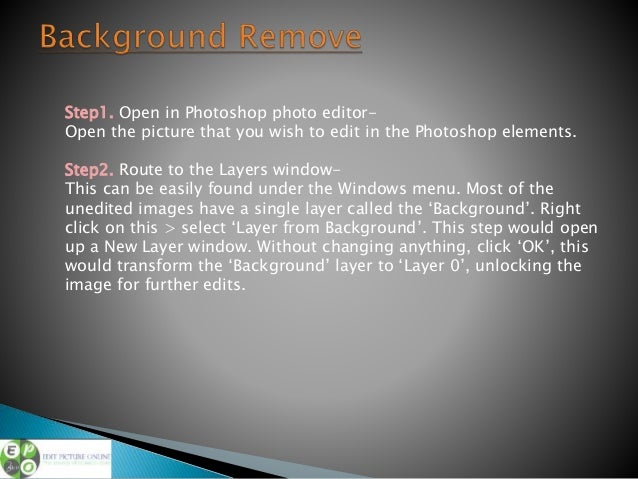 Remove simple background in photoshop step by step for Removethebackground com