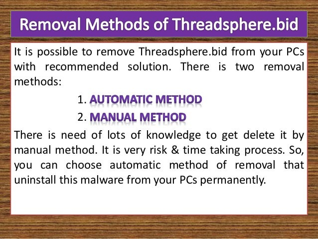 Remove Threadsphere.bid (Prevention Tips)
