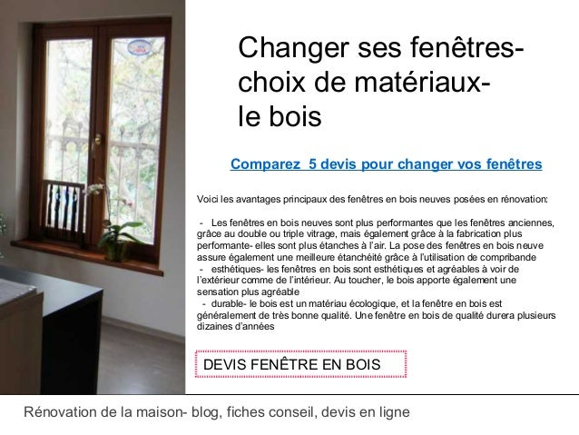 changer ses fentres with devis materiaux en ligne. Black Bedroom Furniture Sets. Home Design Ideas