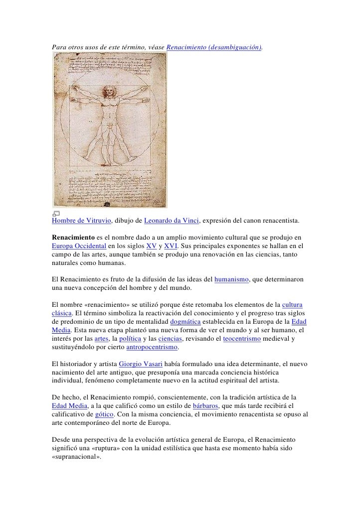 Para otros usos de este término, véase Renacimiento (desambiguación).<br />Hombre de Vitruvio, dibujo de Leonardo da Vinci...