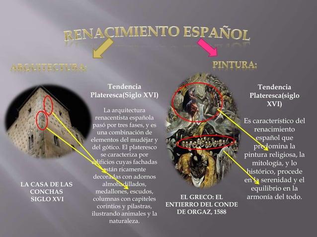 LA CASA DE LAS CONCHAS SIGLO XVI Tendencia Plateresca(Siglo XVI) La arquitectura renacentista española pasó por tres fases...