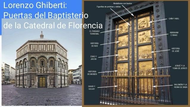 Lorenzo Ghiberti: Puertas del Baptisterio de la Catedral de Florencia