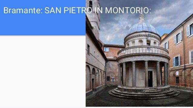 Bramante: SAN PIETRO IN MONTORIO:
