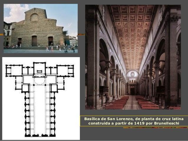 Arquitectura del renacimiento eso for Interior iglesia san lorenzo brunelleschi