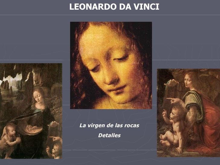 LEONARDO DA VINCI La virgen de las rocas Detalles