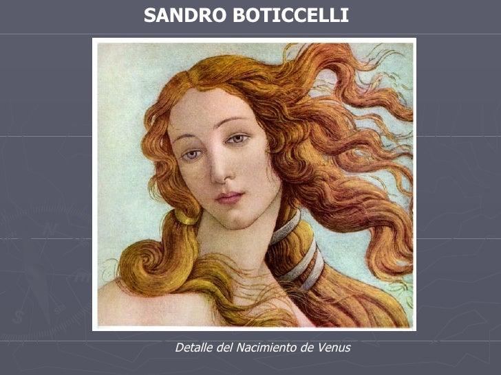SANDRO BOTICCELLI Detalle del Nacimiento de Venus
