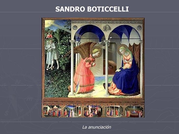 SANDRO BOTICCELLI La anunciación