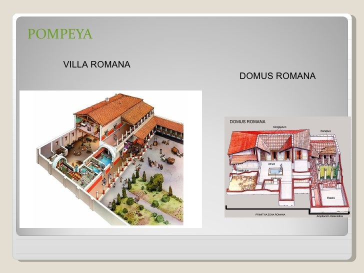 POMPEYA   VILLA ROMANA                  DOMUS ROMANA