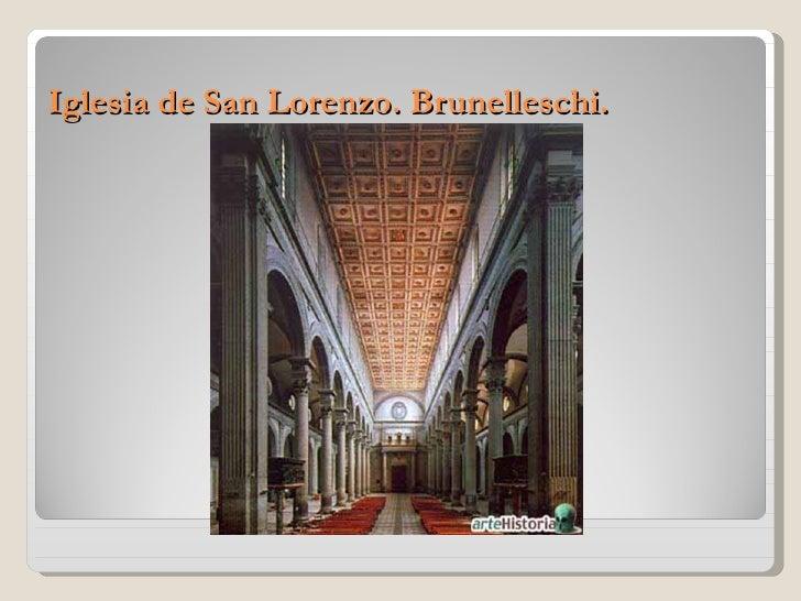 Iglesia de San Lorenzo. Brunelleschi.