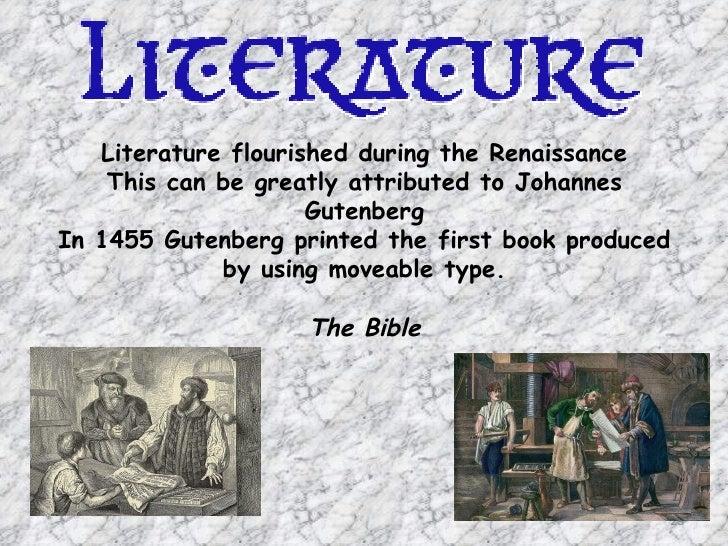 literature during renaissance