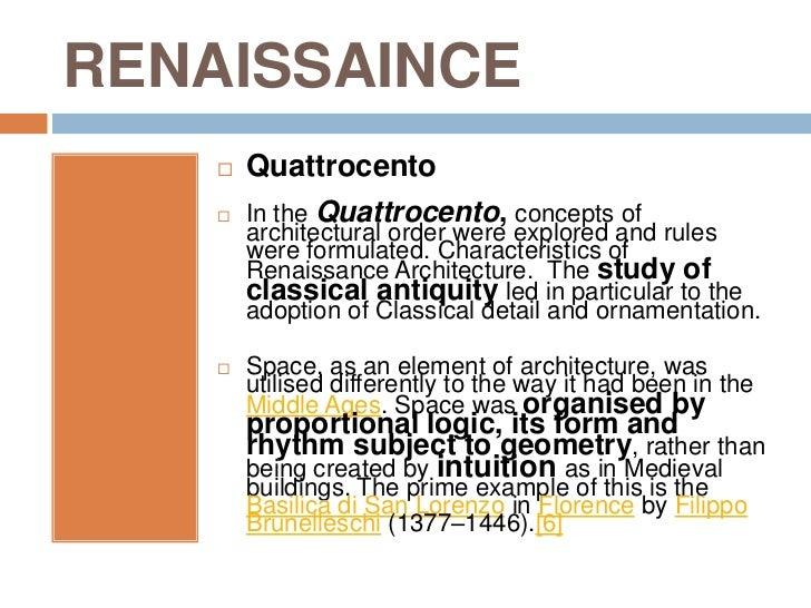 Characteristics Of Architects Renaissance Architects Influences Works