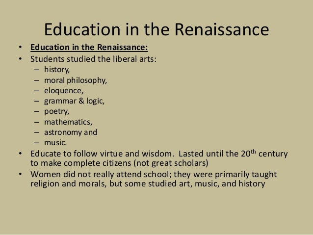 renaissance educational theory Home, the renaissance, turning points, florence scape, the medici, the show   research for education and learning (mcrel) standards database, 3rd ed   models, and theories acceptance or displacement of explanations based on.