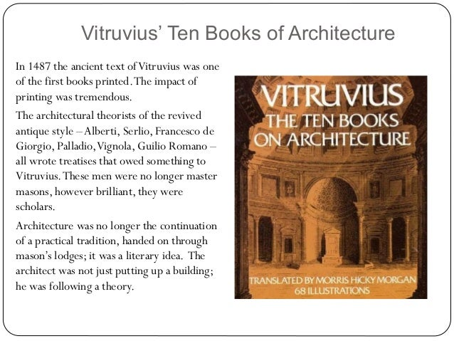 Ten book of architecture vitruvius the lego