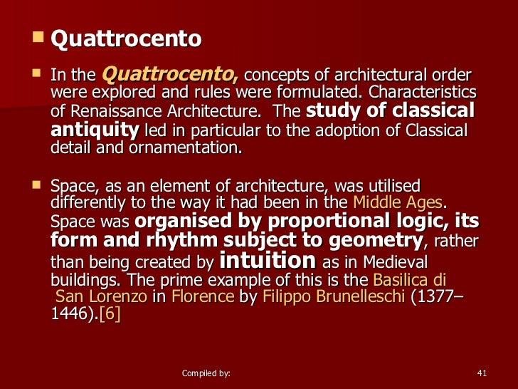 Renaissance architecture for Architecture quattrocento