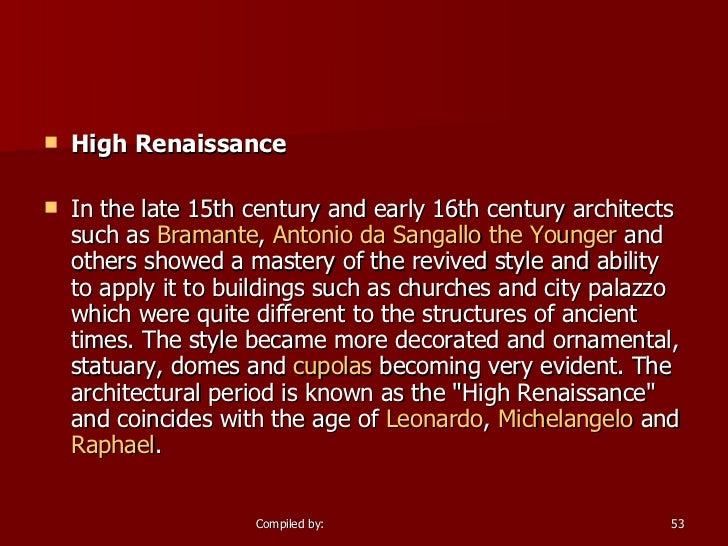 influential renaissance architecture essay We provide high quality essay writing services on a 24/7 basis original papers, fast turnaround and reasonable prices call us toll-free at 1-866-225-6206.