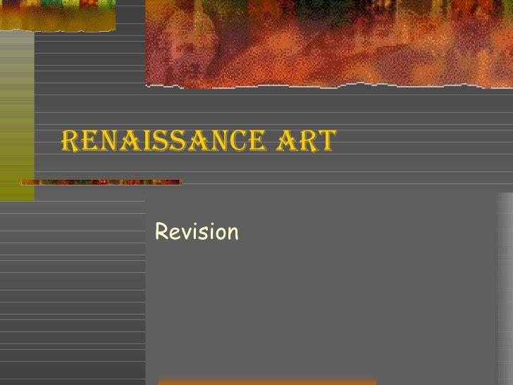 Renaissance Art Revision