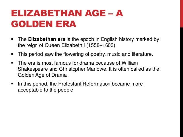 elizabethan age definition