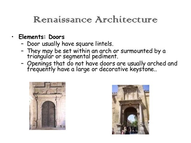 Renaissance architecture for French baroque characteristics
