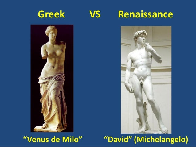Image result for renaissance vs greek art