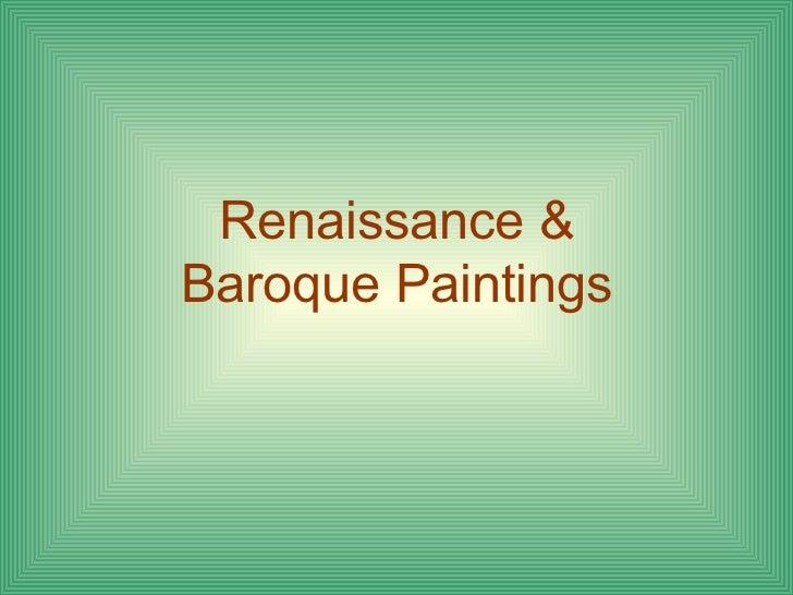 Renaissance & Baroque Paintings