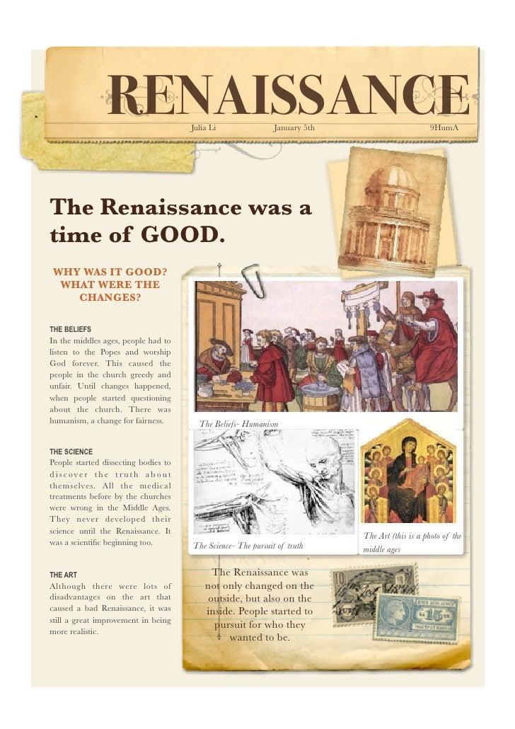Renaissance comparison poster