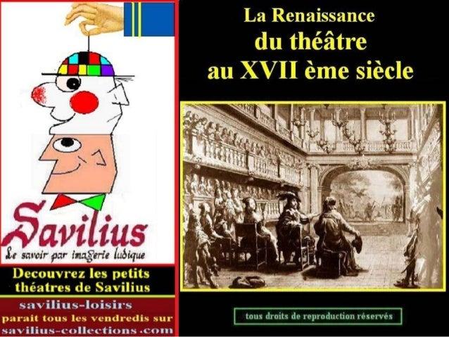 Renaissance du théâtre au XVII ème siècle