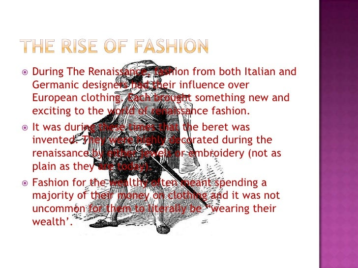 Renaissance Italian Clothing And Fashion