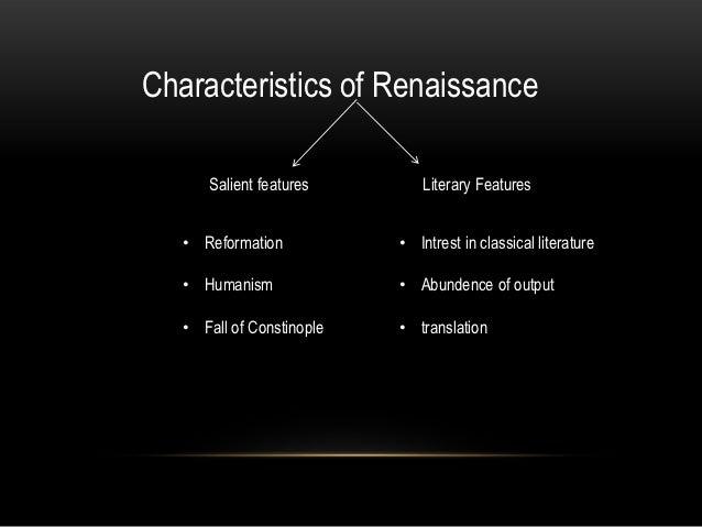 characteristics of literature in english