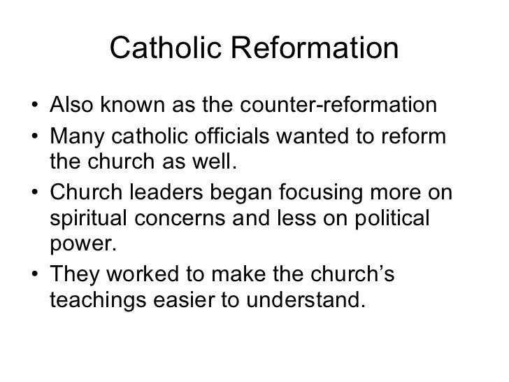 THE COUNTER REFORMATION - PowerPoint PPT Presentation