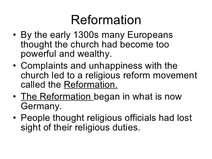 the reformation of the european religion As if persecution and massacres were not bad enough, for over a century europe  was wracked with a series of wars of religion, pitting.