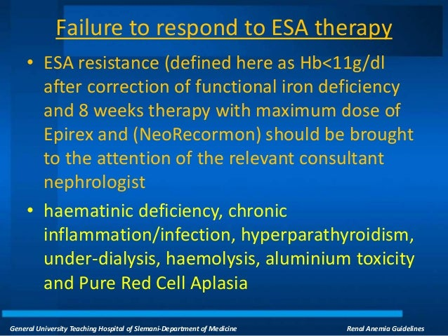 Balancing ESA and iron therapy in a prospective payment ...