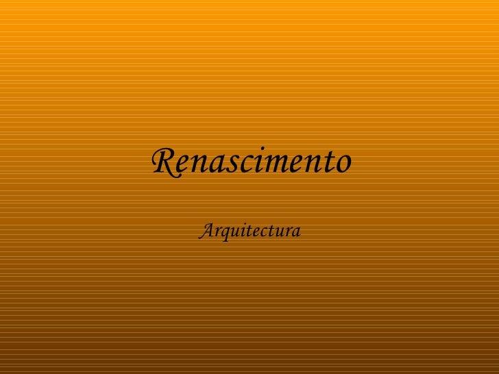 Renascimento Arquitectura
