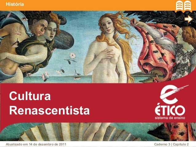 História  Cultura  Renascentista  Caderno Atualizado em 14 de dezembro de 2011 3 | Capítulo 2