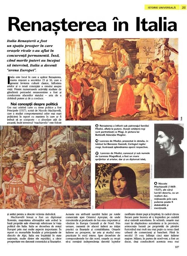 """A. I . , Italia Rena~terii afost un spafiu prosper fn care ora~ele rivale s-au aflat fn '""""' '""""' ~ '""""' concurenfa permanent..."""
