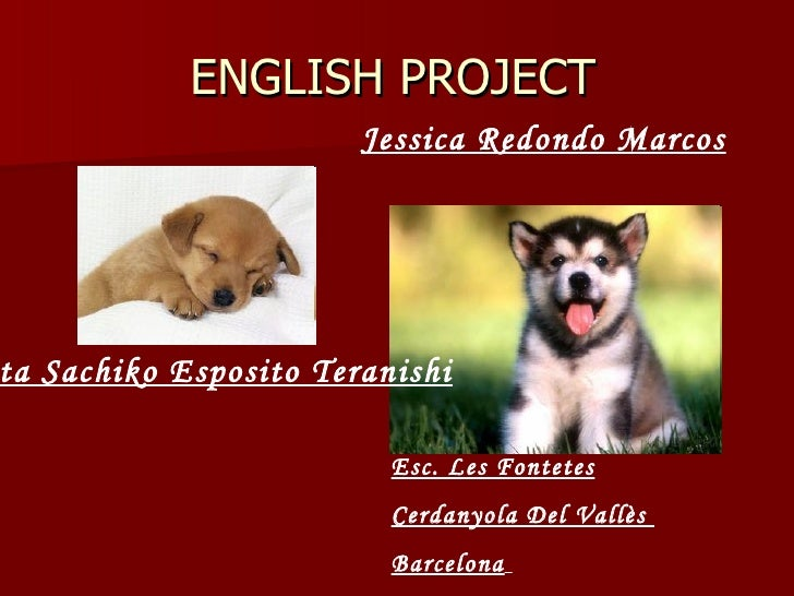 ENGLISH PROJECT Renata Sachiko Esposito Teranishi   Jessica Redondo Marcos Esc. Les Fontetes Cerdanyola Del Vallès  Barcel...
