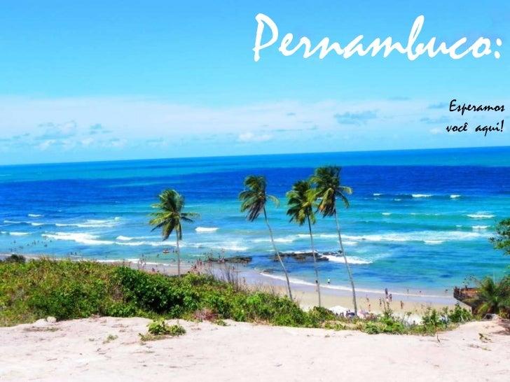Pernambuco:        Esperamos        você aqui!