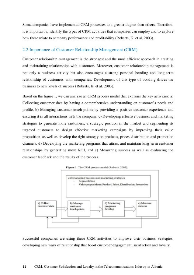 Customer relationship management in telecom industry thesis