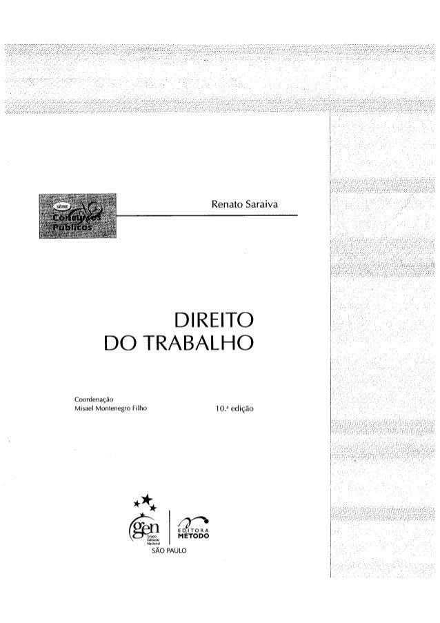 Renato saraiva   direito do trabalho para concursos públicos, 10ª ed. (2009)