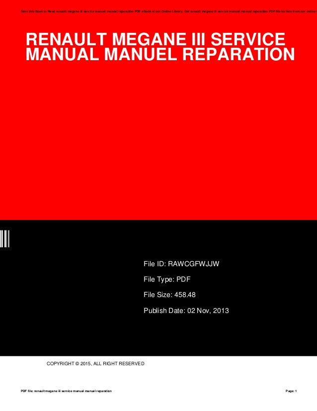 renault megane iii service manual manuel reparation