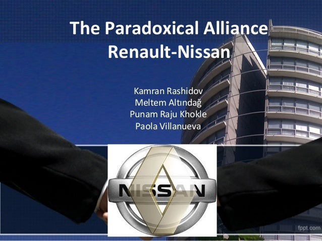 renault nissan the paradoxical alliance marketing essay The value of cross-border m&as grew from usd 153 billion in 1990 to usd 1 trillion in 2000, while the number of new cross-border strategic alliances increased from around 830 in 1989 to 4520 in 1999 1 the daimler-chrysler merger, the ford-mazda alliance, and the renault-nissan alliance are just a few examples of this new trend of.