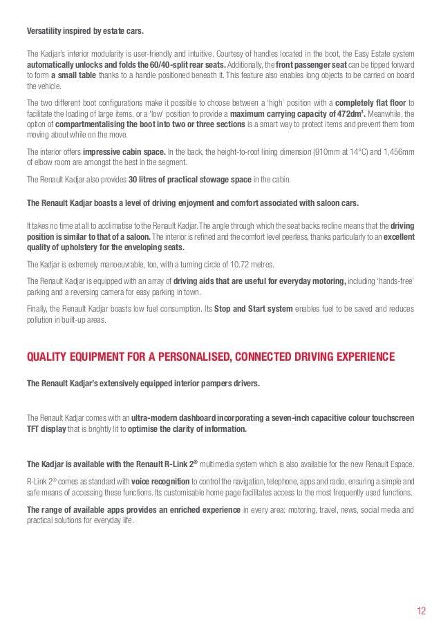 Renault Kadjar unveil Press Release