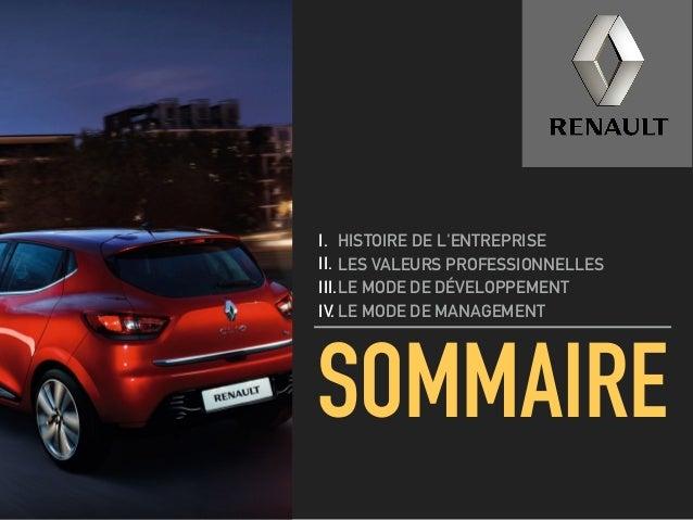Renault Culture d'Entreprise Slide 2