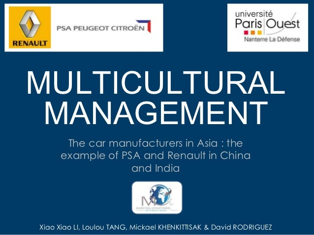 MULTICULTURAL MANAGEMENT      The car manufacturers in Asia : the     example of PSA and Renault in China                 ...