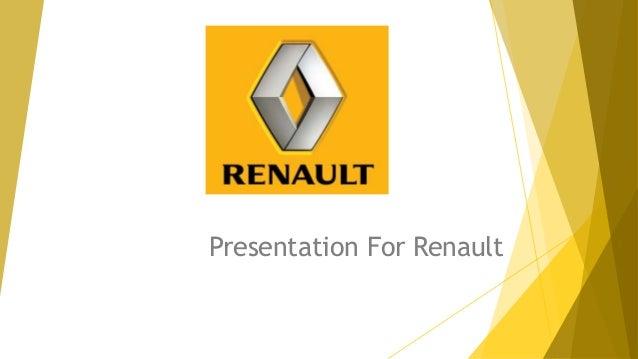 Presentation For Renault