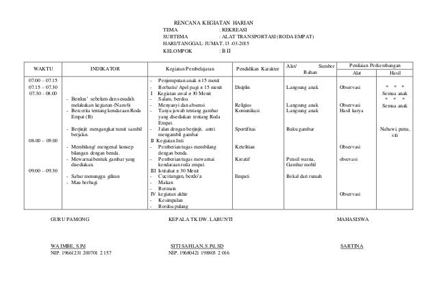 Rencana Kegiatan Harian 06 Alat Komunikasi