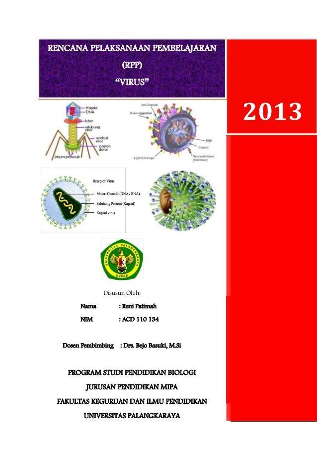 Rencana Pelaksanaan Pembelajaran Virus Sma Kelas 1